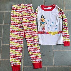 Hanna Andersson Wonder Woman PJs. Size 120